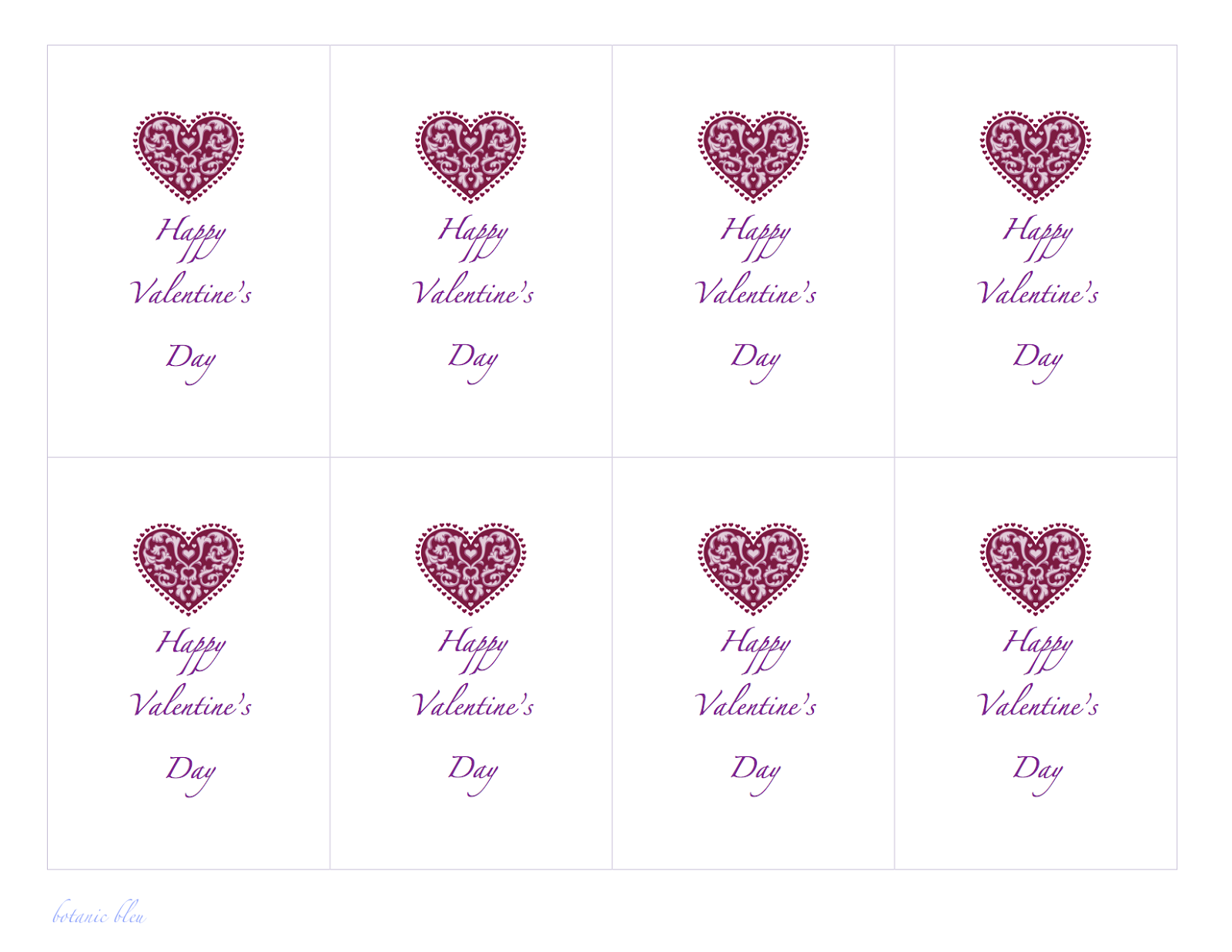 Paper Valentines Free Templates – Valentine Cards Templates Free