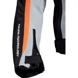 Flm Sports Textil Motorradjacke 1.1 grau Herren Größe 4xl Flm #datenightoutfit