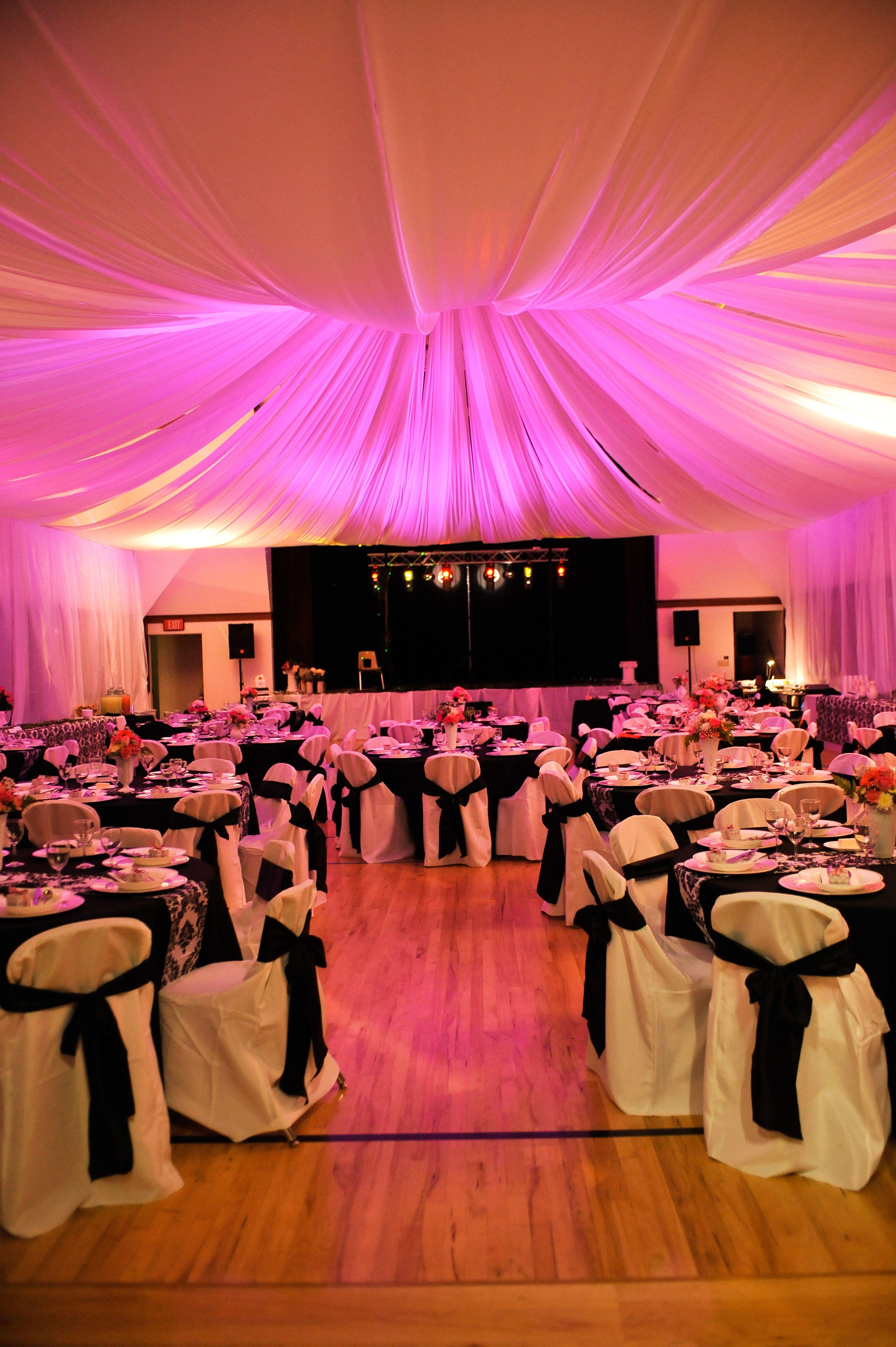 Black, white, damask cultural hall wedding- San Diego, CA ...