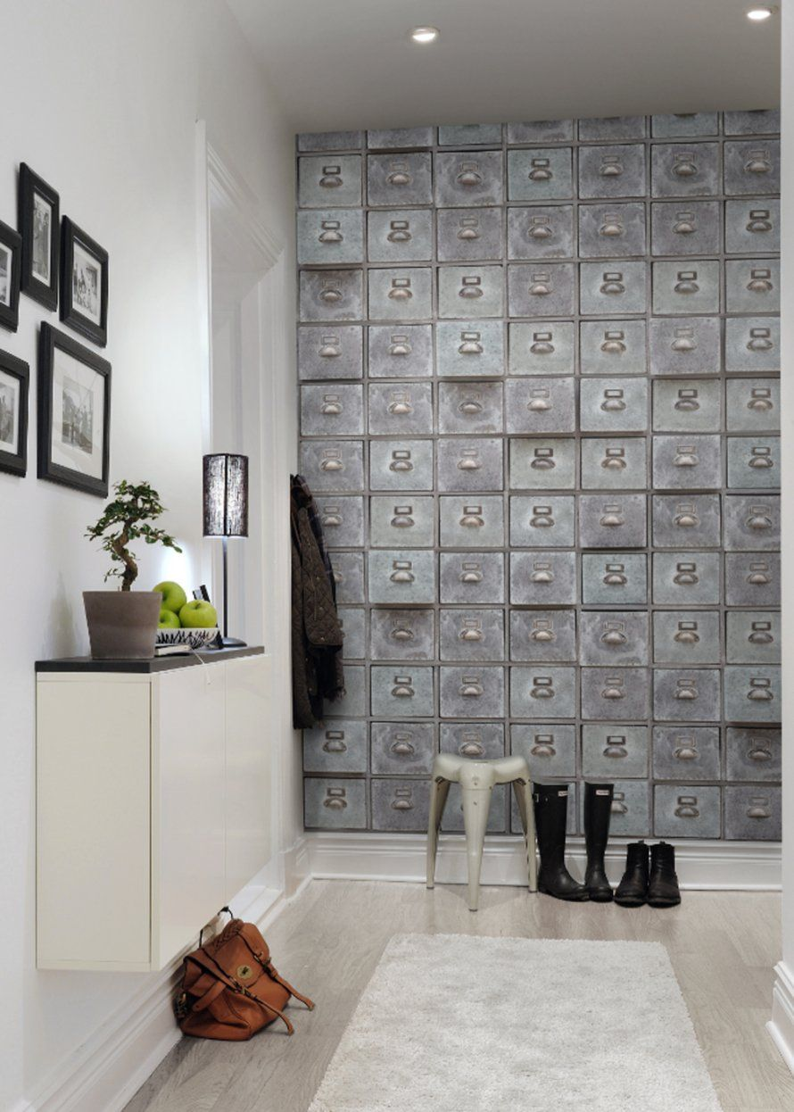 Papier peint casiers – Rebelwalls | Marie claire maison, Trompe et ...