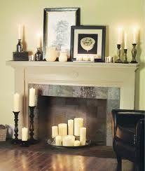 Fireplace With Candles Inside Google Suche