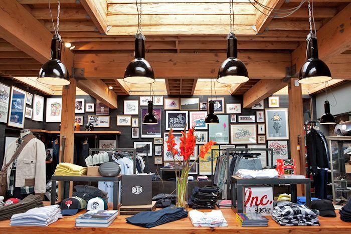 Deus Ex Machina Motors Into Venice Store Design Interior Coffee Shop Decor Retail Fixtures