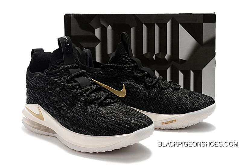 fc809bba2c4 New Release Nike LeBron 15 Low Black Metallic Gold-Phantom