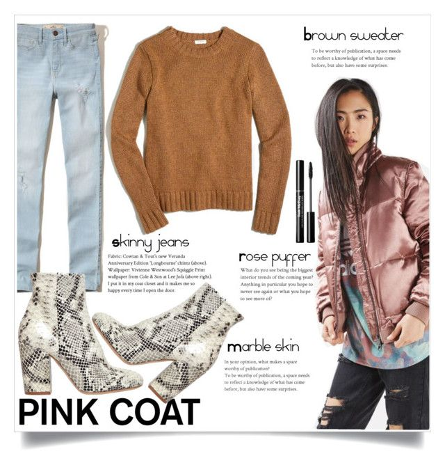 """""""Pink coat"""" by vivistyle21 on Polyvore featuring Topshop, Hollister Co., Strategia and J.Crew"""