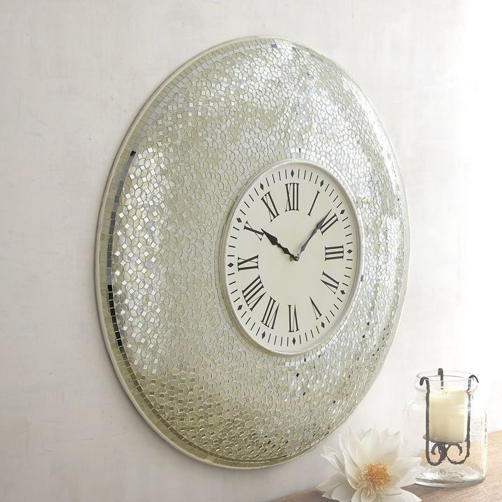 Pier 1 Imports Blanc Mosaic Clock Clock Antique Wall Clocks White Clocks