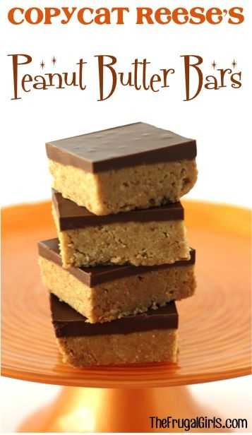 Copycat Reese S Peanut Butter Bars Recipe From Thefrugalgirls Com