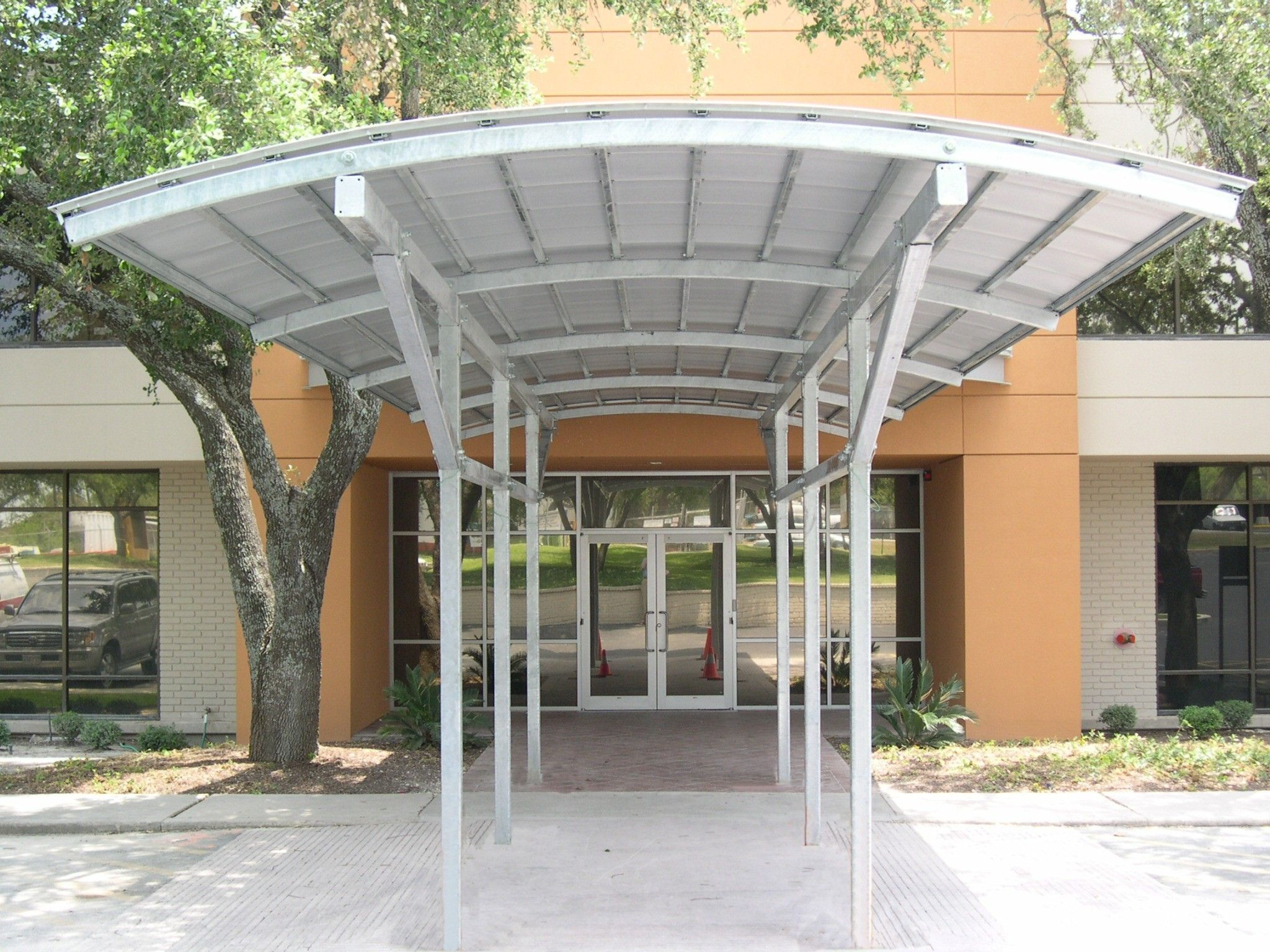 commercial entrance canopies metal awnings canopies