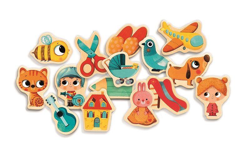 Drewniane Magnesy Dla Dzieci 36 Szt Zabawki Kreatywne Dla Chlopcow I Dziewczynek Childrens Toy Toy Craft Kids Gifts
