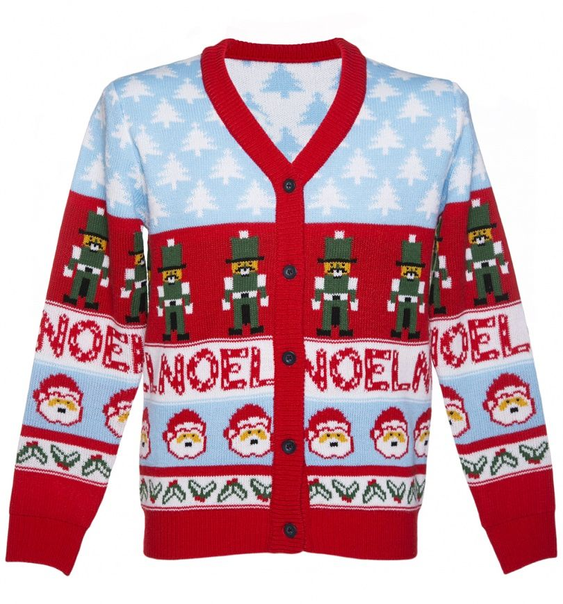 Unisex Retro Noel Christmas Cardigan from Cheesy Christmas Jumpers ...