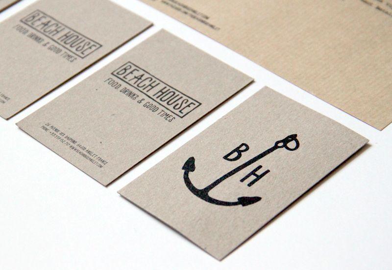 La Courtoisie Creative Beach House Restaurant Anglet Design Graphic Logo Et Carte De Visite