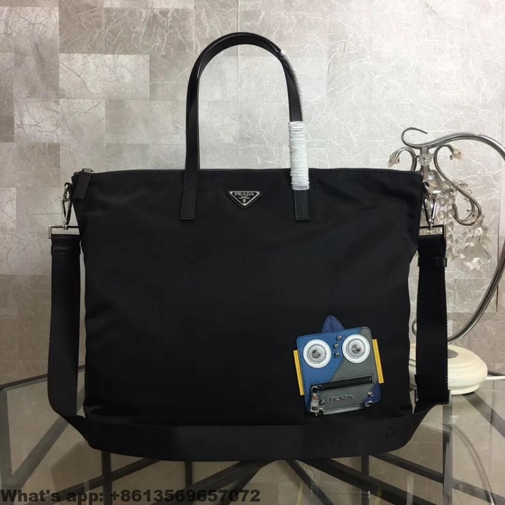 2d2fb35b932c Prada Nylon Tote with Robot Appliqué 2VG024 2018