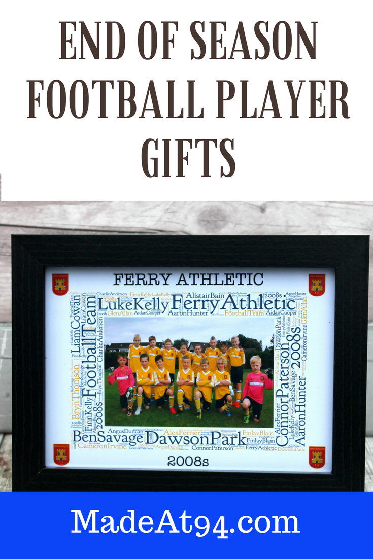 personalised football team frame gifts for the football lover | pee