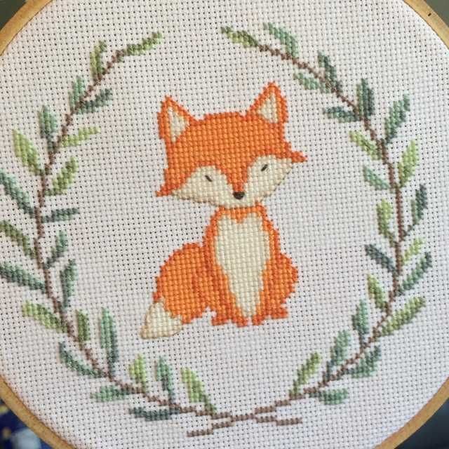 [FO] #3 of 3 woodland critters Im stitching for my cousins nursery!