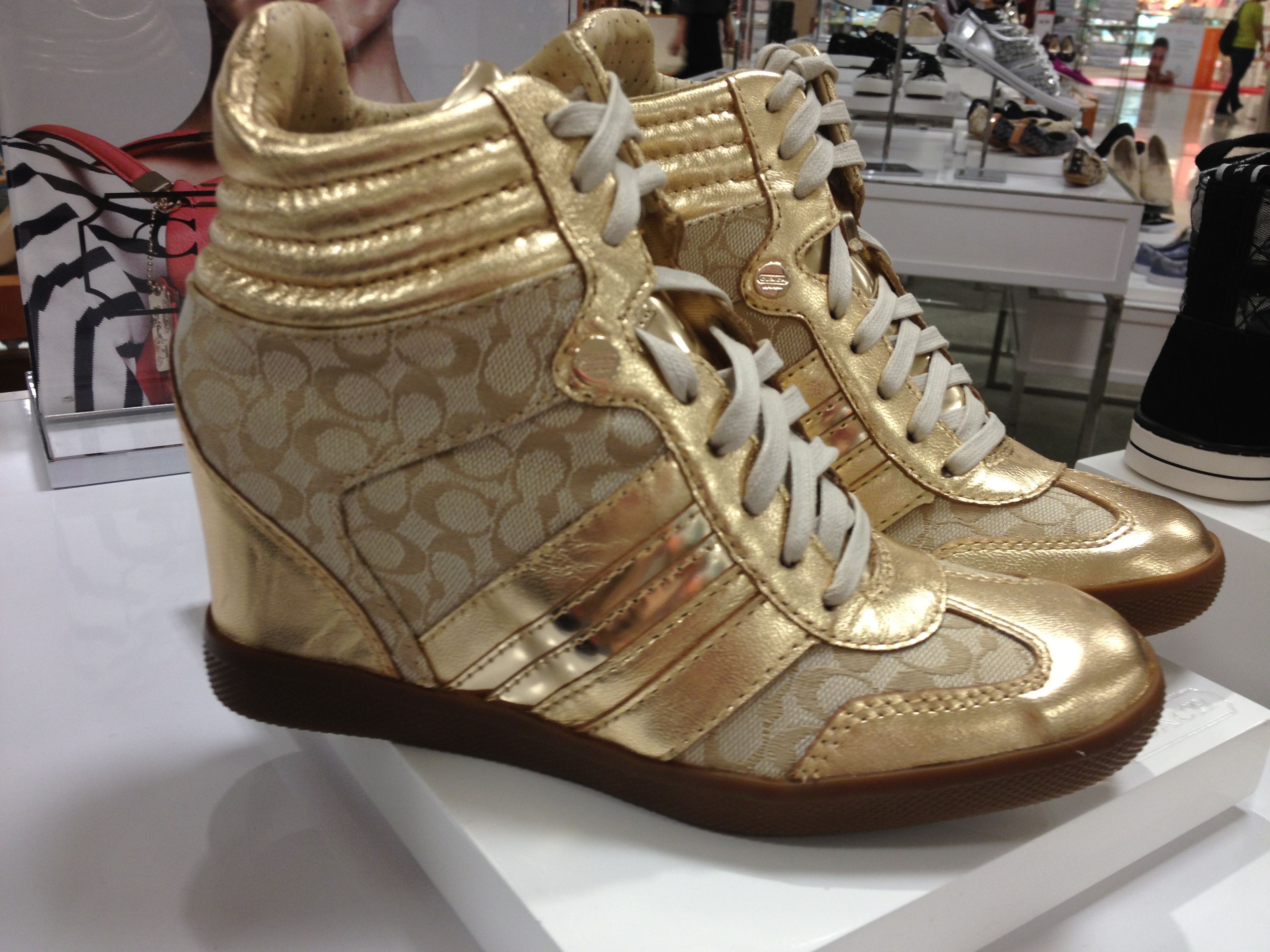 fa816aaa Coach wedge sneakers $129.00 at Macy's | shoes | Sneakers, Wedge ...