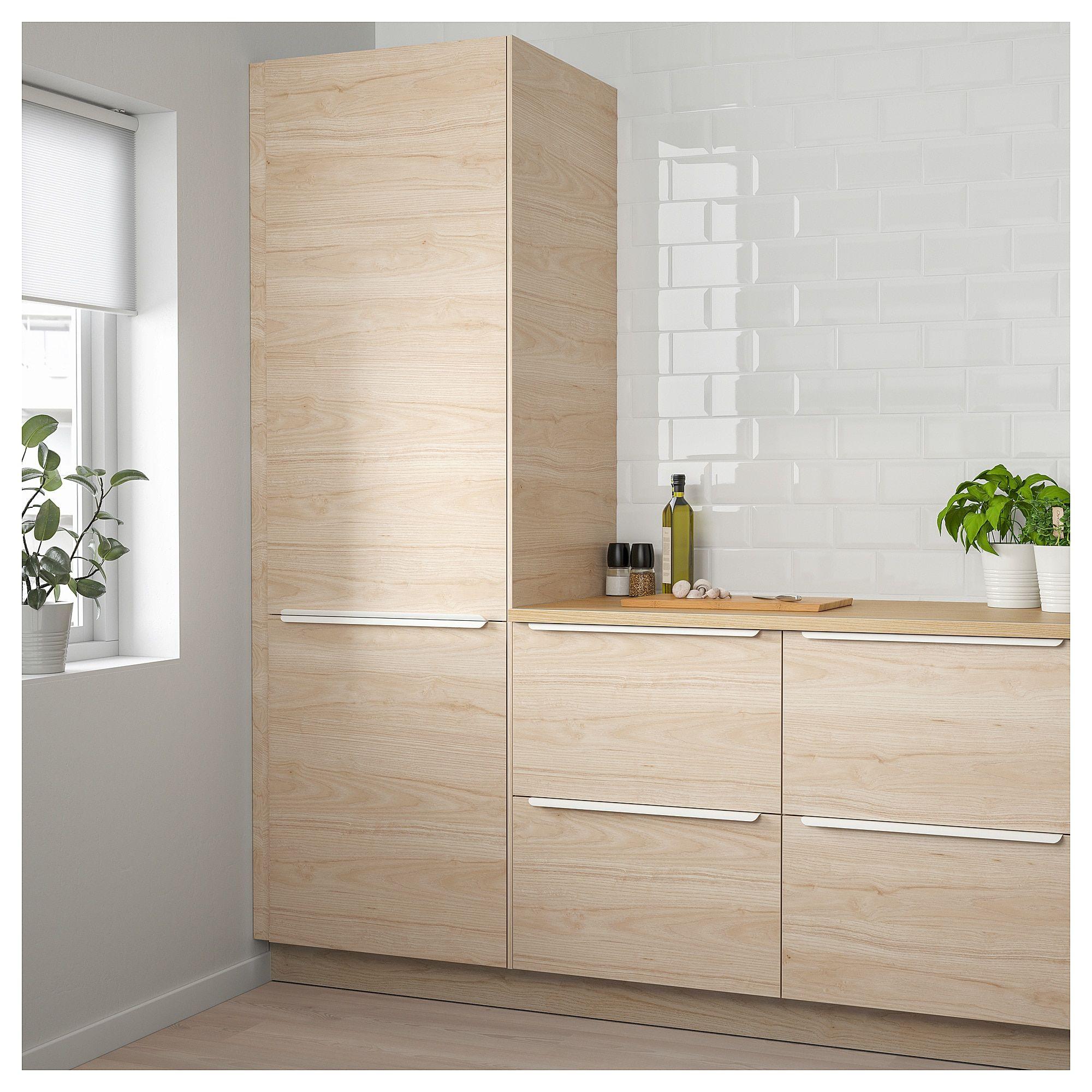 Askersund Door Light Ash Effect Ash Ikea Ikea Minimalist Kitchen Simple Kitchen
