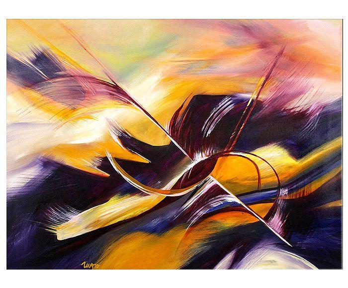 Acrylmischtechnik, Acrylfarben auf Leinwand - (fertig bespannter ...