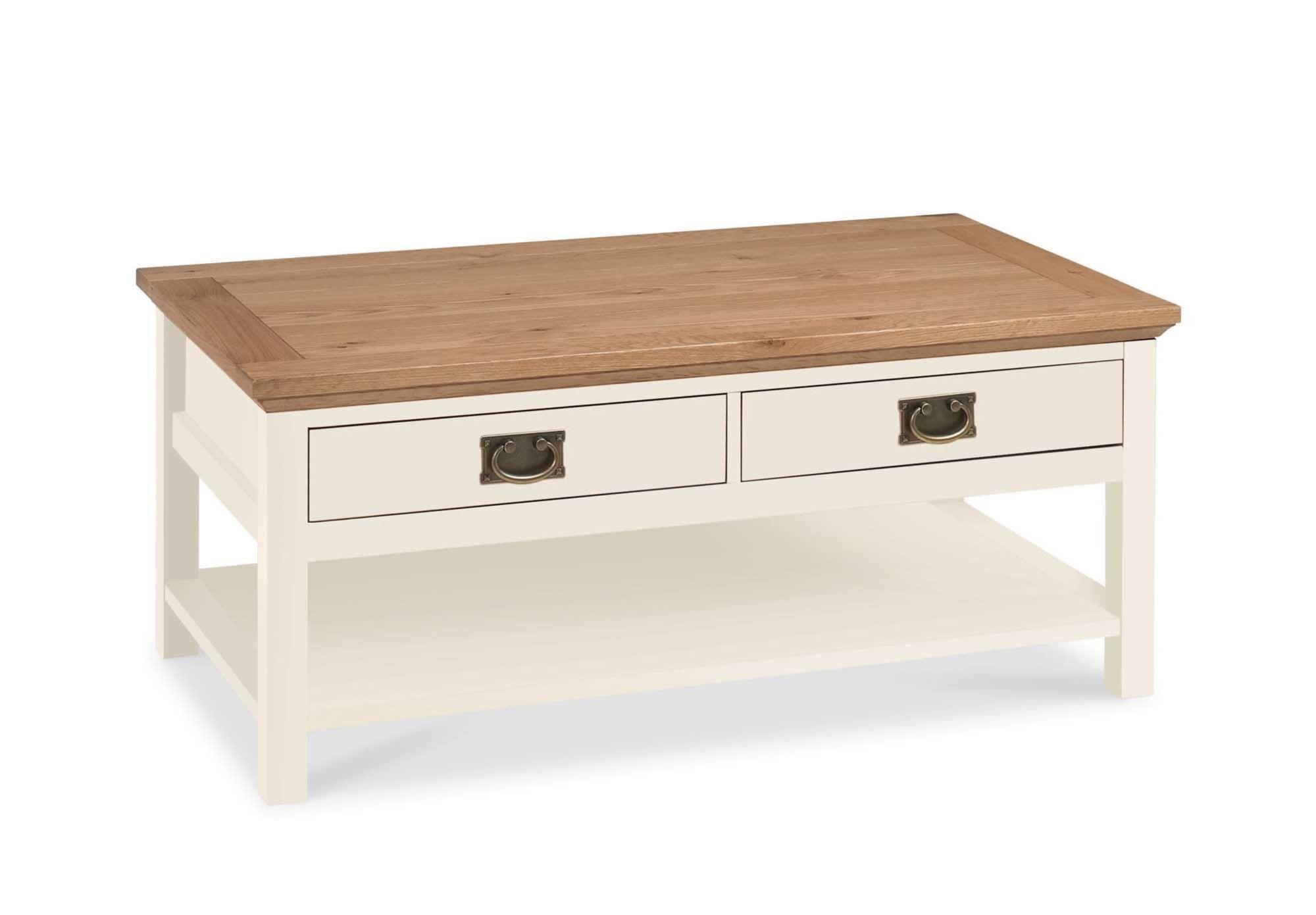 Konferenčn stolek nedokonal½ povrch ve stylu provence