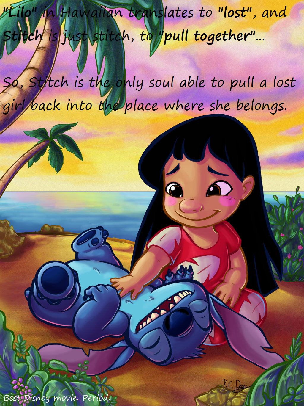 Lilo and Stitch has so much hidden meaning, and symbolism