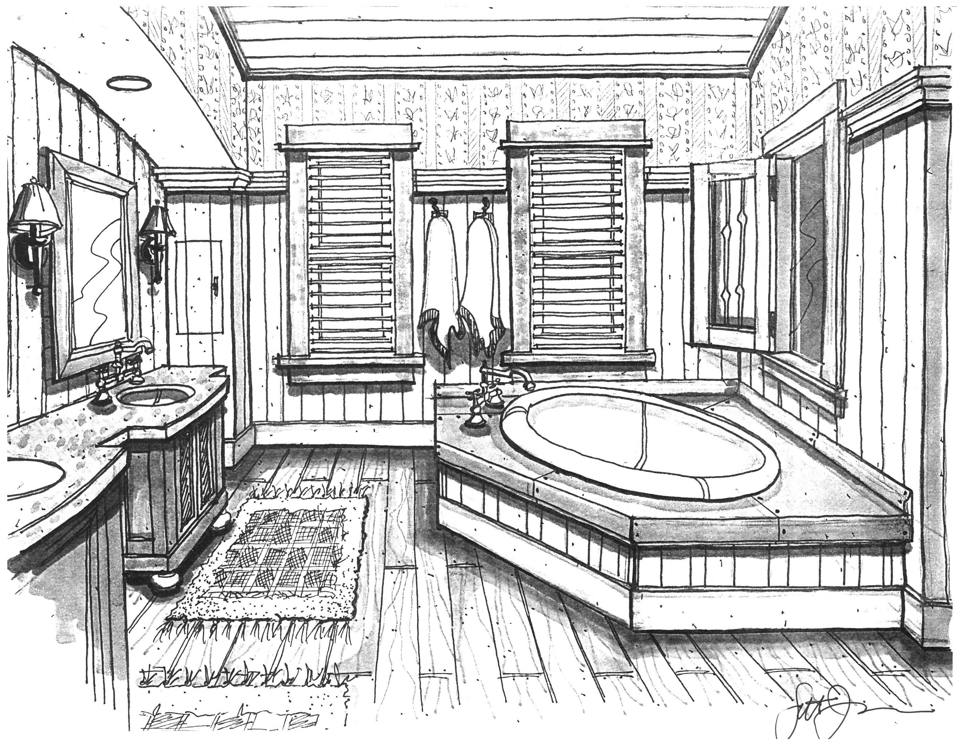 Bathroom Design Bathroom Ideas Interior Design Drawing Perspective Drawing Sketch Interior Design Drawings Perspective Drawing Interior Design Sketches