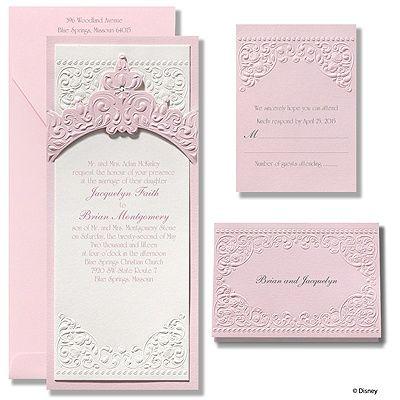 Princess Aurora Pink Wedding Invitations