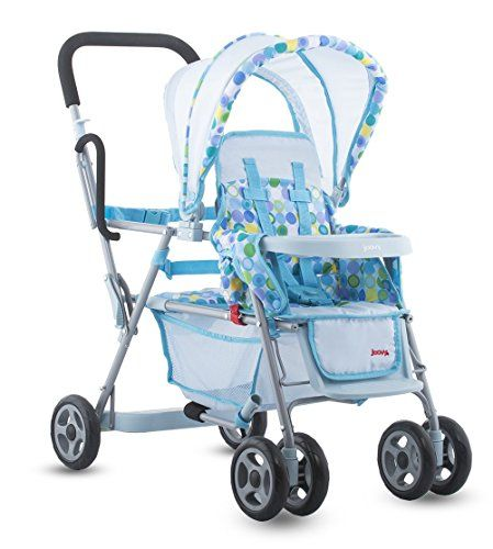 Doll Strollers - Toy Doll Caboose Tandem Stroller  Blue Dot -- See this great product.