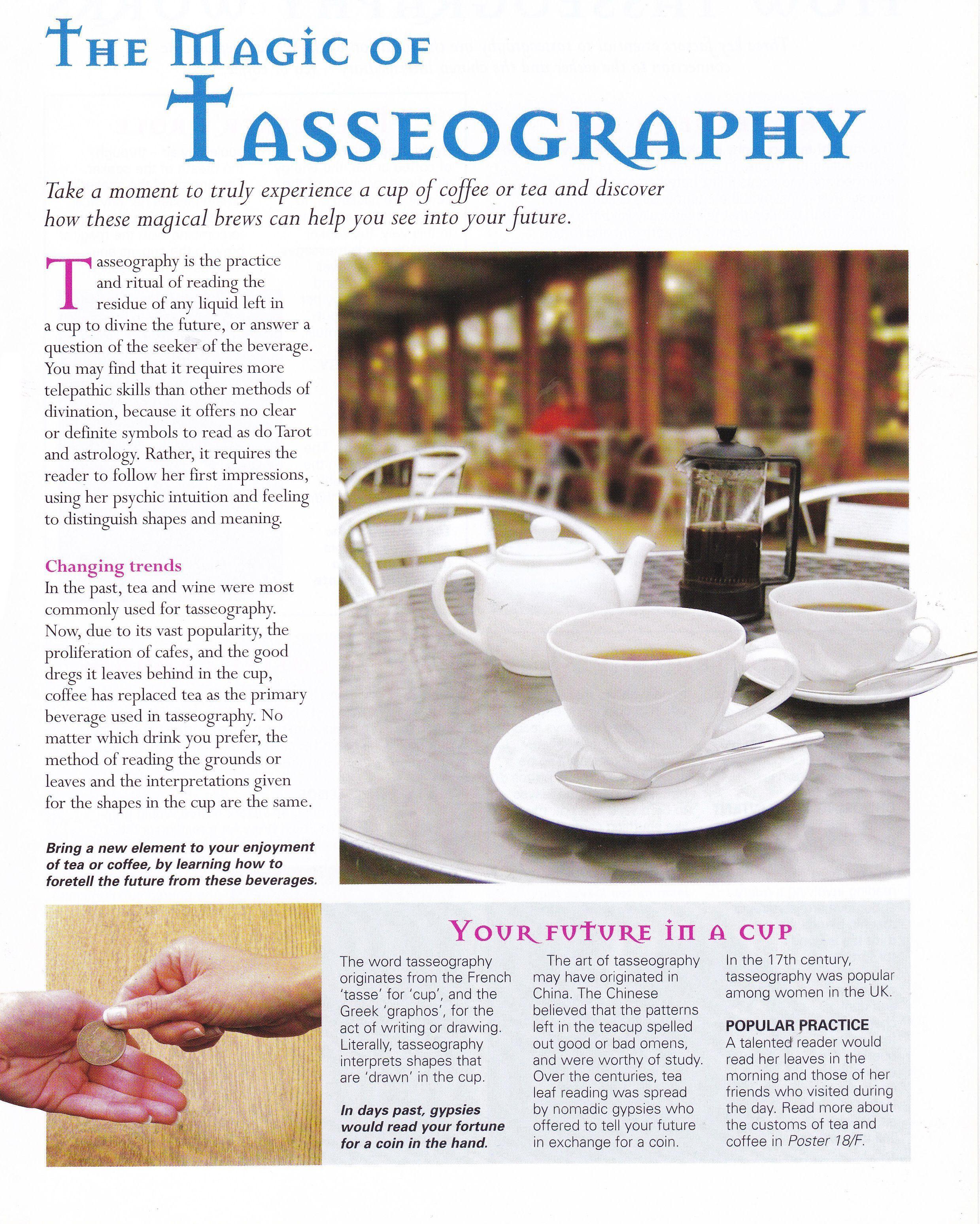 The magic of Tasseography Reading tea leaves, Tea