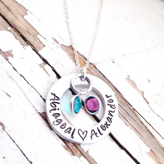 Custom mothers necklace childrens names birth stones birthstones custom mothers necklace childrens names birth stones birthstones new mom gift baby shower quote motherhood pendant mozeypictures Gallery