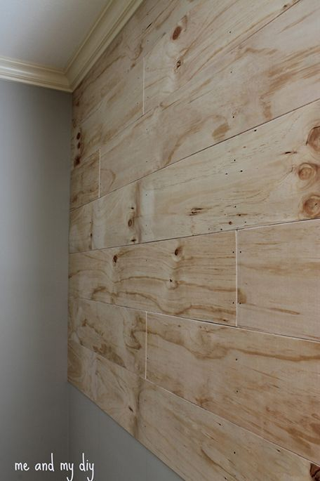 Accent Wall At Me And My Diy Home Decor Plywood Walls