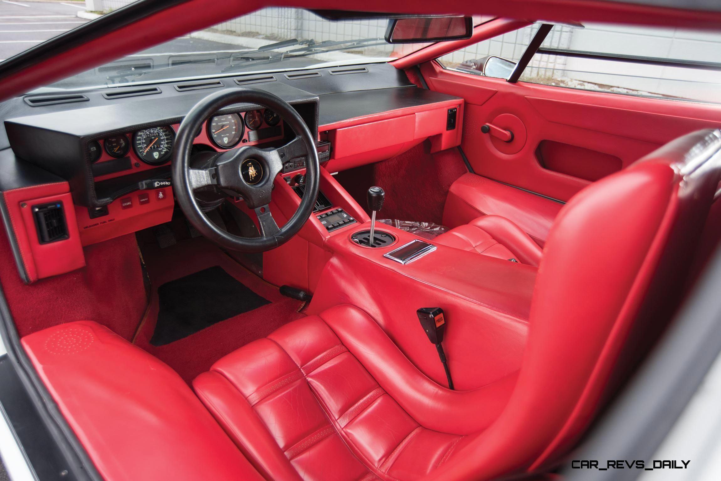1988 5 Lamborghini Countach 5000 Qv In Bianco White 4