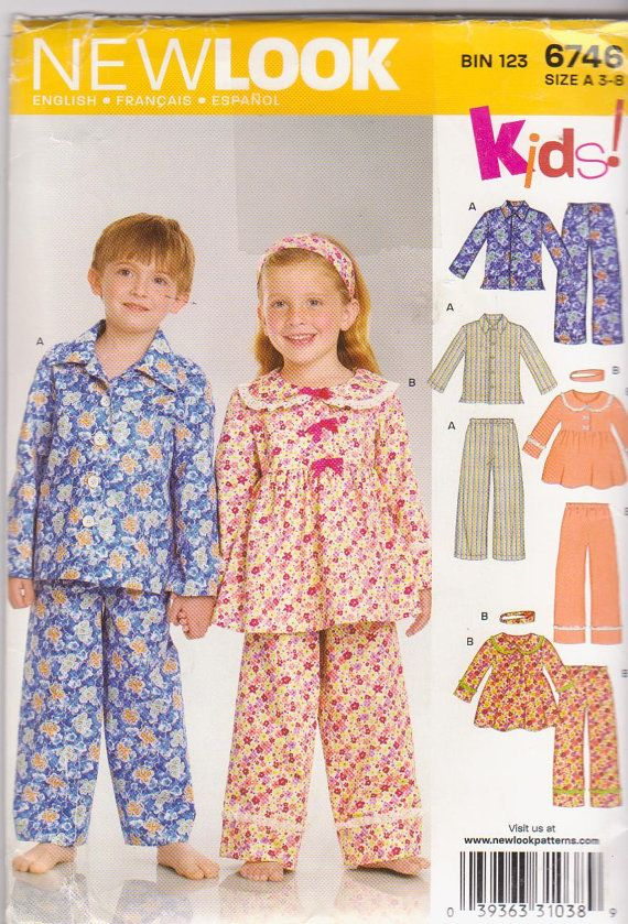 ce9c1c052 Pattern for boys and girls winter pajamas by beththebooklady