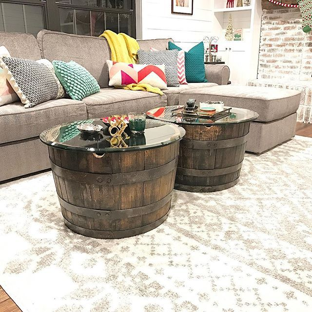 Whiskey Barrel Coffee Table Motor City Barrels Pinterest