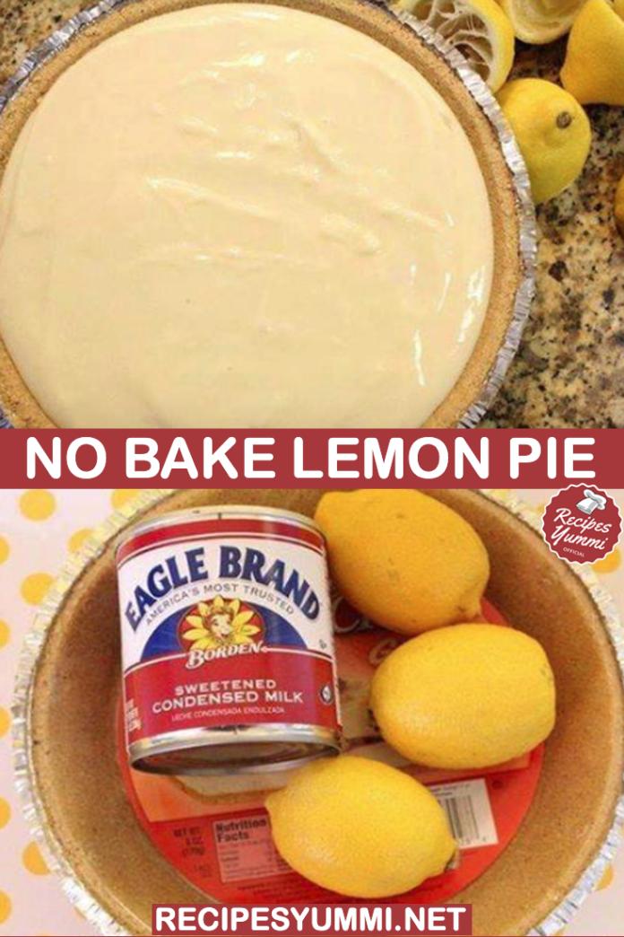 No Bake Lemon Pie In 2020 No Bake Lemon Pie Lemon Pie Lemon Pie Recipe