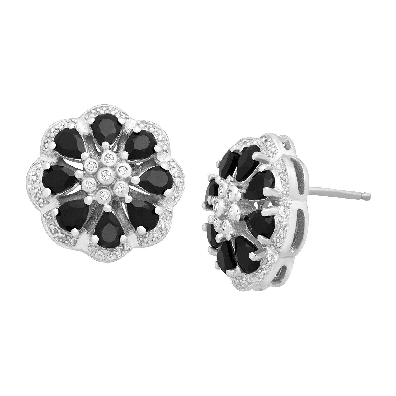 diamond flower earrings designs