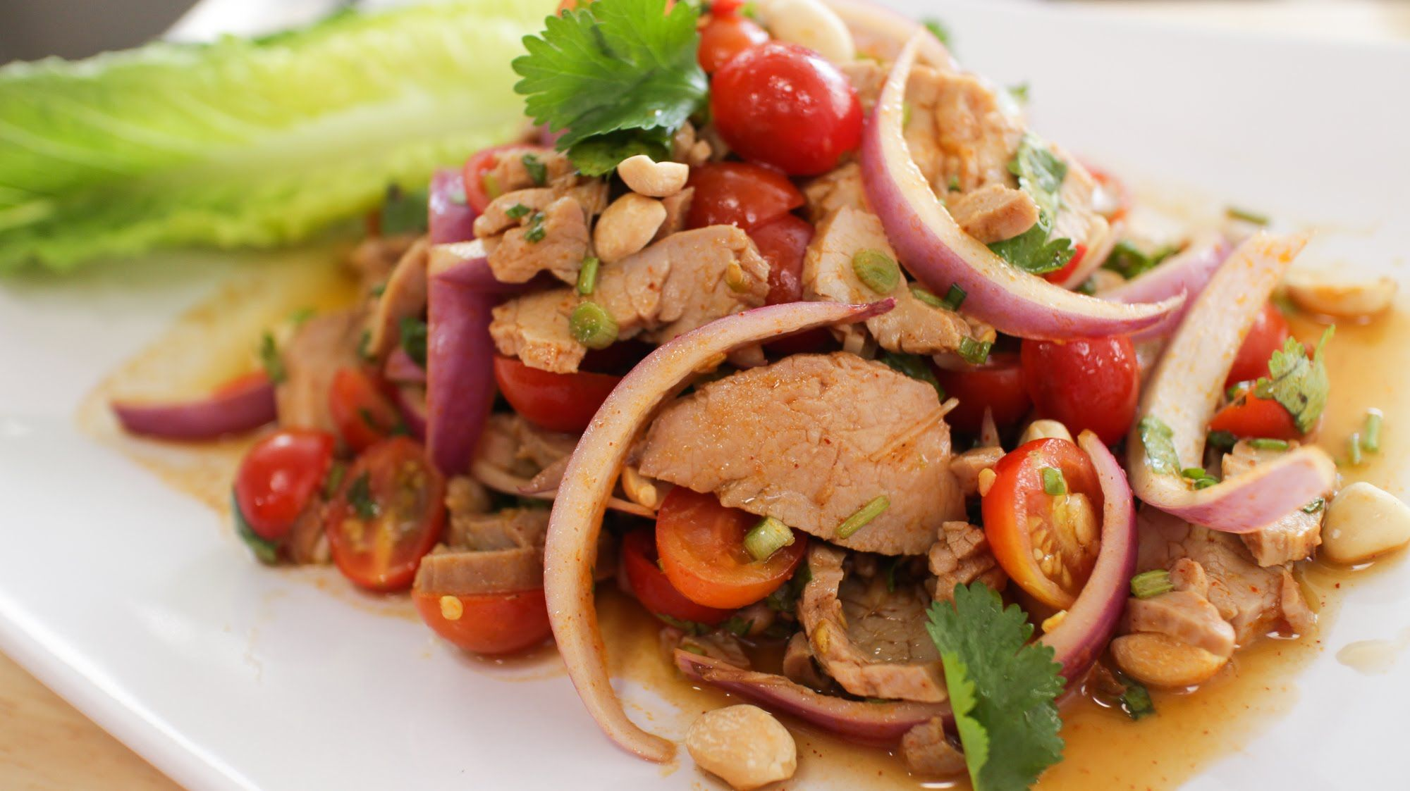 Spicy Roast Pork Salad - Hot Thai Kitchen | Thai food | Pinterest ...