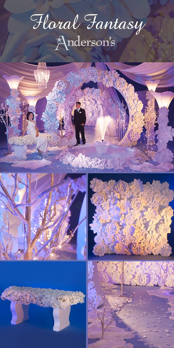Immerse Your Students In A Floral Filled Dream With This Amazing Theme For Prom Homecoming Or Winter Formal The Beautiful Foam Like Flowers And