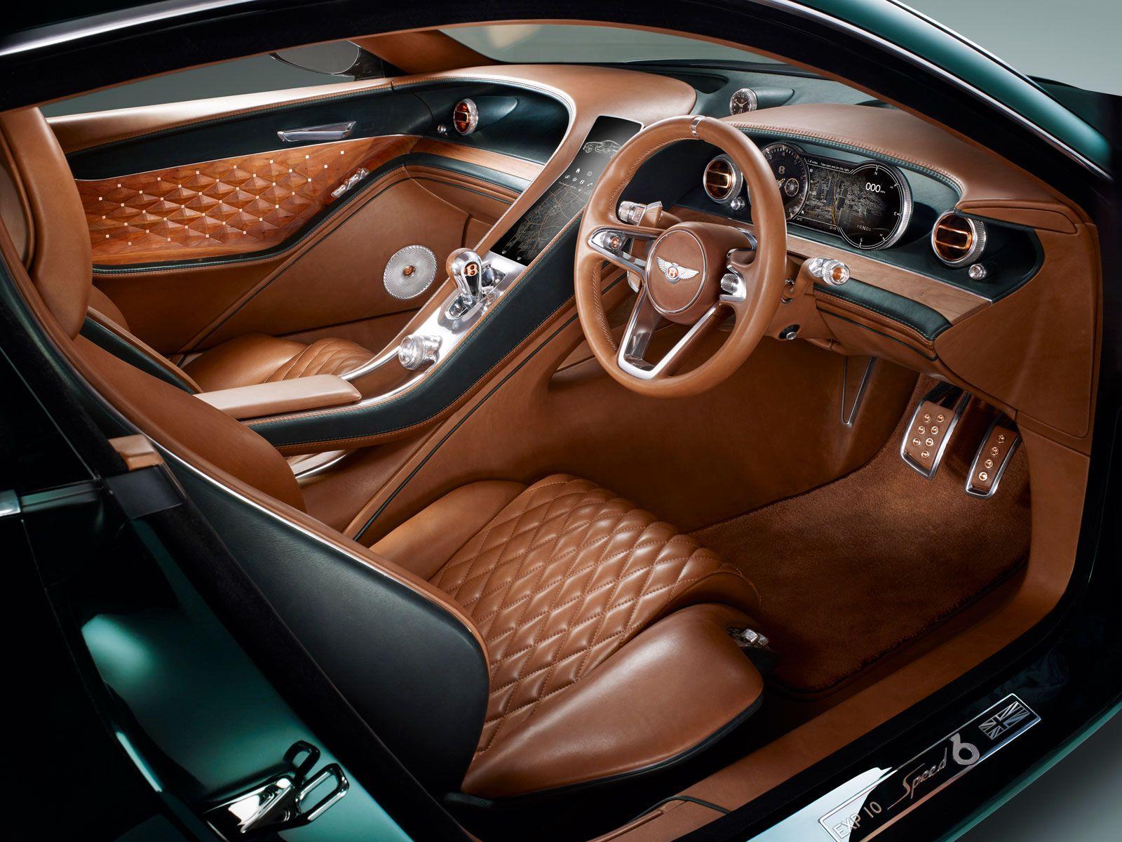Bentley Exp 10 Speed 6 Concept Interior With Images Bentley