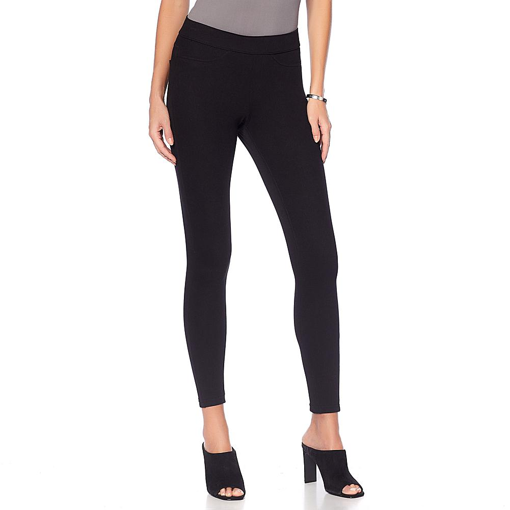 5dec552aa004c9 HUE Curvy Denim Leggings - Missy - Black in 2019 | Products | Denim ...