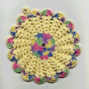 Vintage Florals Potholders Crochet Patterns Vintage Flower And