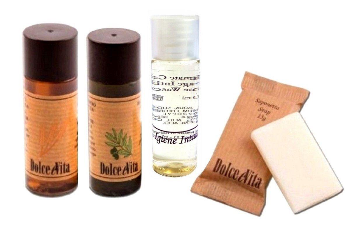 Set Cortesia 200 Pezzi Albergo Hotel B B Doccia Shampoo Igiene