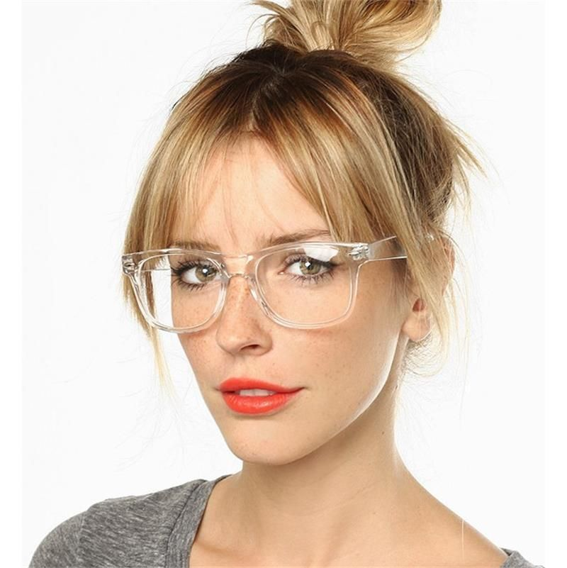 f6f5c449568f2 NEW 2017 Hipster Girl Glasses Clear Plastic Frames Eyeglasses Clear Lens  Specs