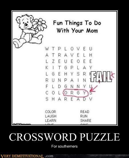09f0571a58d39dcc00c87e1b5ea5cabc crossword puzzle funny pinterest memes