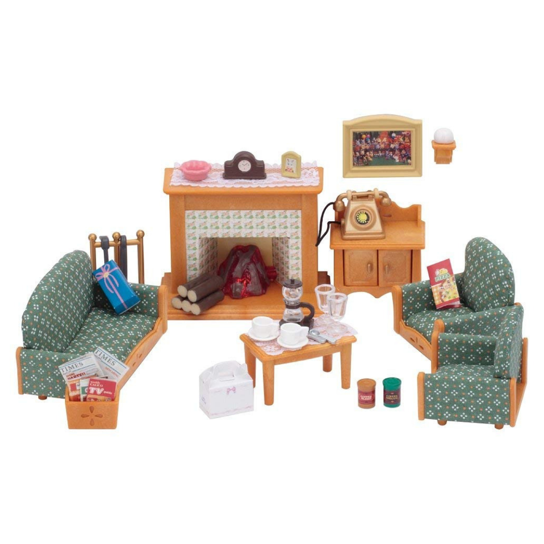 Calico Critters Deluxe Living Room Furniture Dollhouse Livingroom Furniture Dollhouse Dollhousefurniture Do Girls Bedroom Sets Living Room Sets Room Set