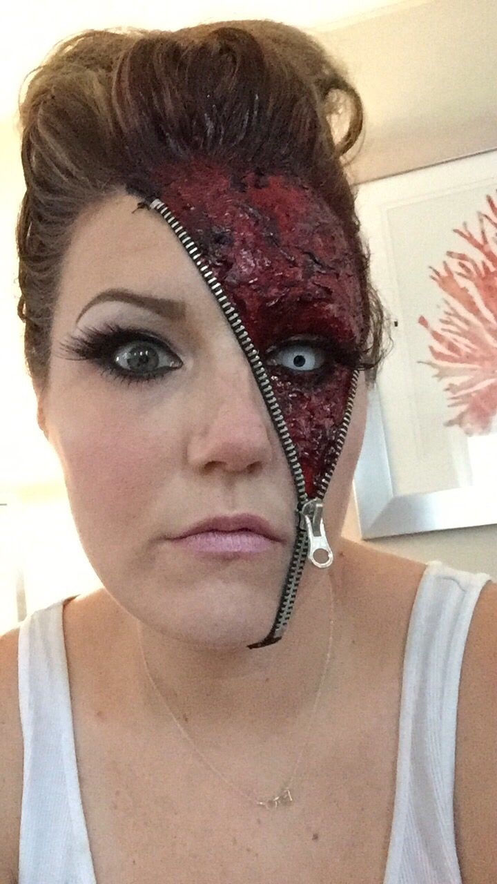 "Face Makeup Youtube: Awesome ""Unzipped"" Zipper Halloween Makeup Ideas"