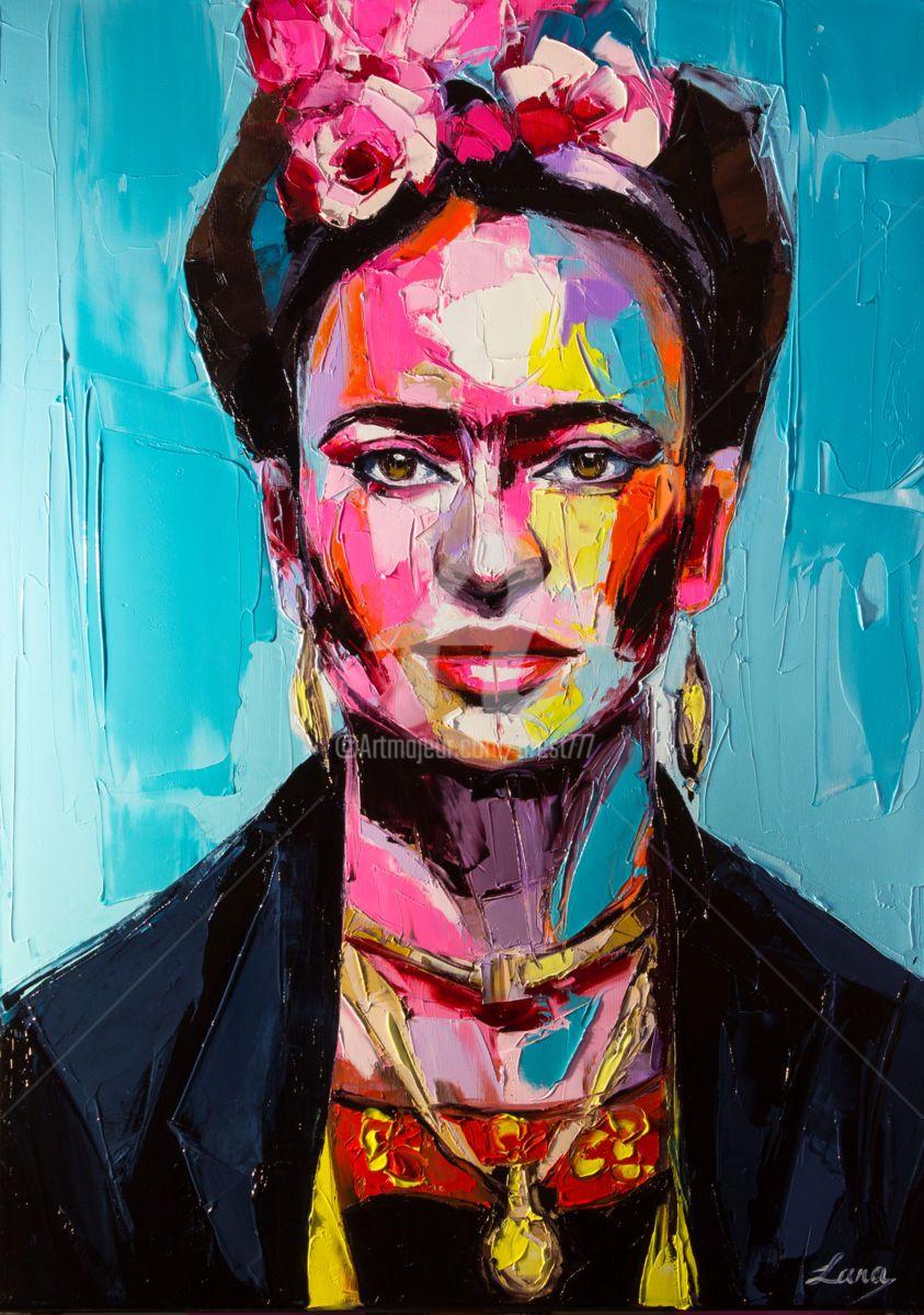 Frida Schilderij, 70x50x2 cm ©2018 door Svetlana