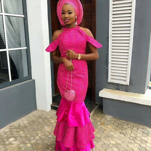Stylish Pink Lace Aso Ebi Styles You Would Love So Much