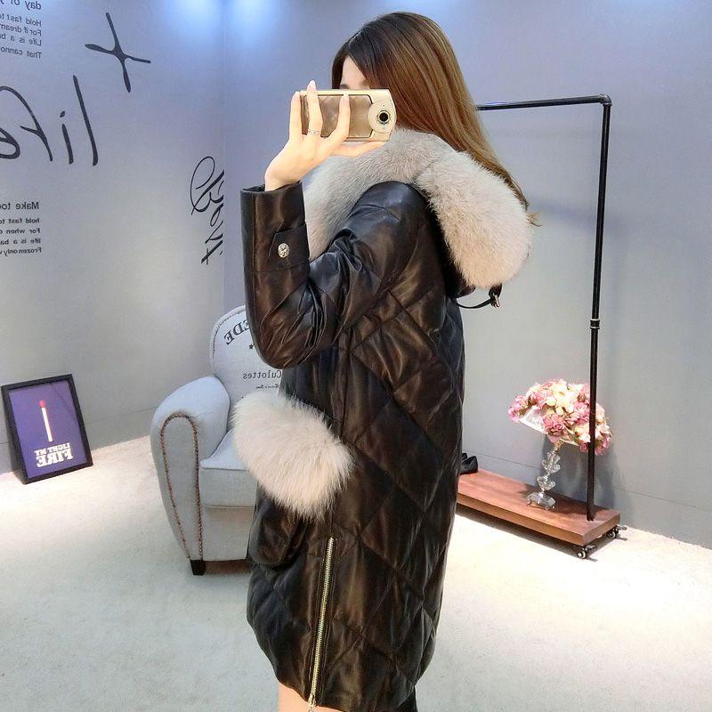 Women Winter Faux Fur Coat 2016 New PU Sheepskin Leather