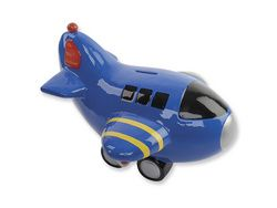 Airplane Bank- found one very similar at a consignment sale this past month. Jack will love it!
