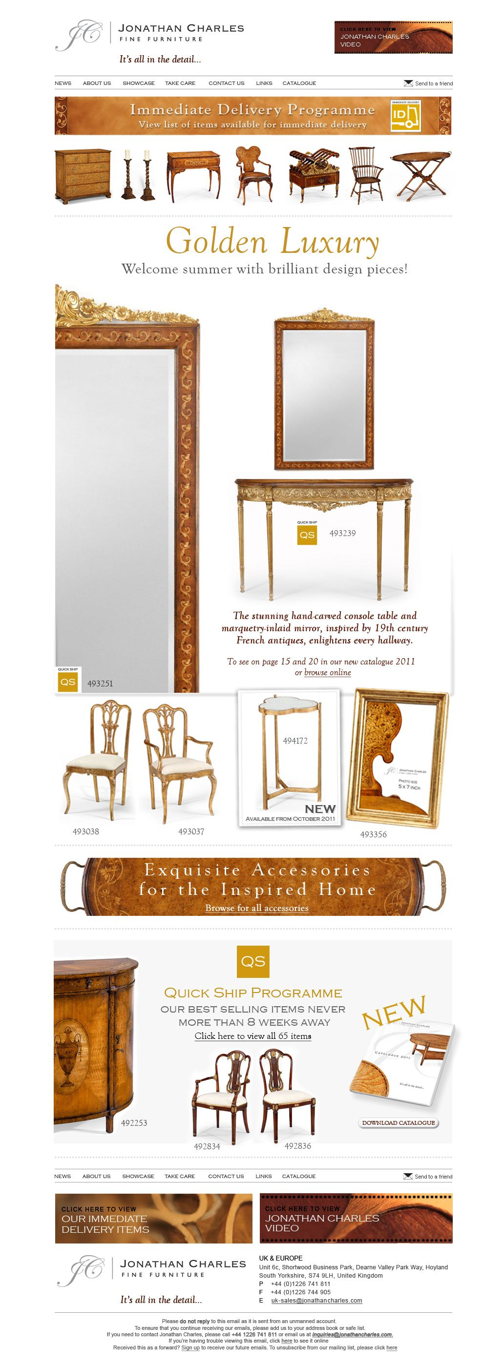 Jonathan Charles Fine Furniture   Golden Luxury... Welcome Summer With  Brilliant Design Pieces