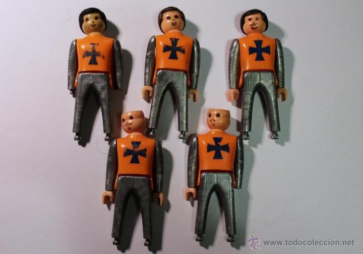 AIRGAM BOYS - 5 CRUZADOS MEDIEVALES - EDAD MEDIA - SOLDADOS - AIRGAMBOYS