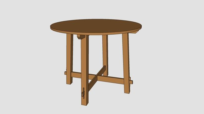 Round Mission Table Plans Mission Table Mission Furniture Table